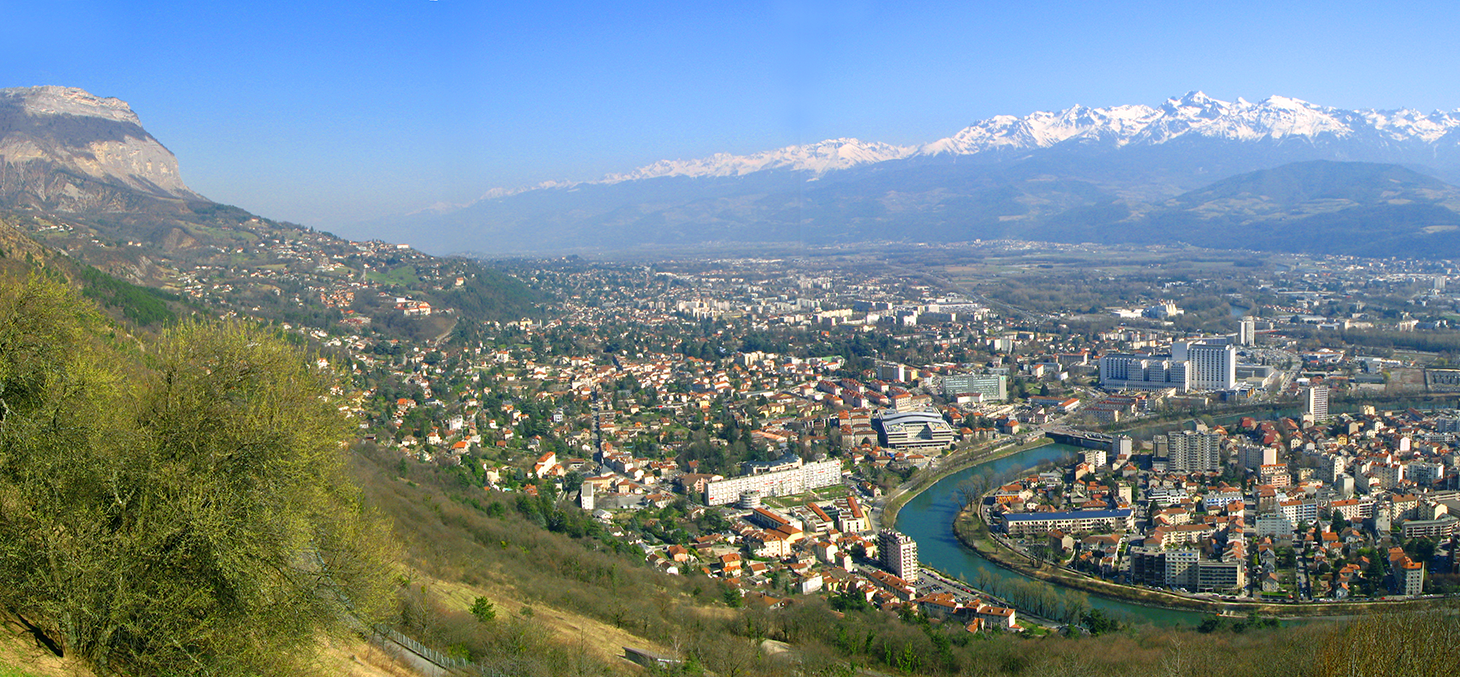 View over Grenoble valley